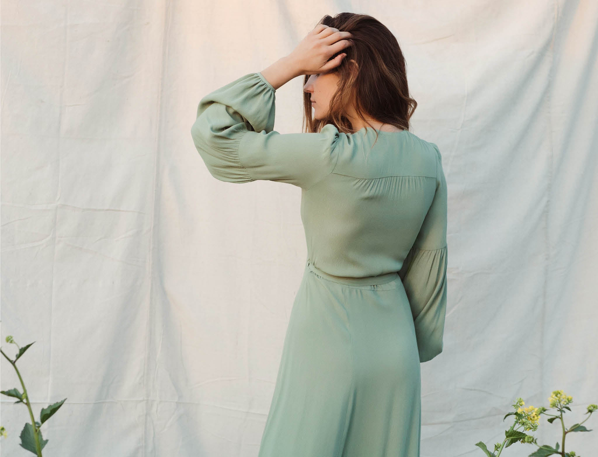 The Bergen Dress | Washed Linden