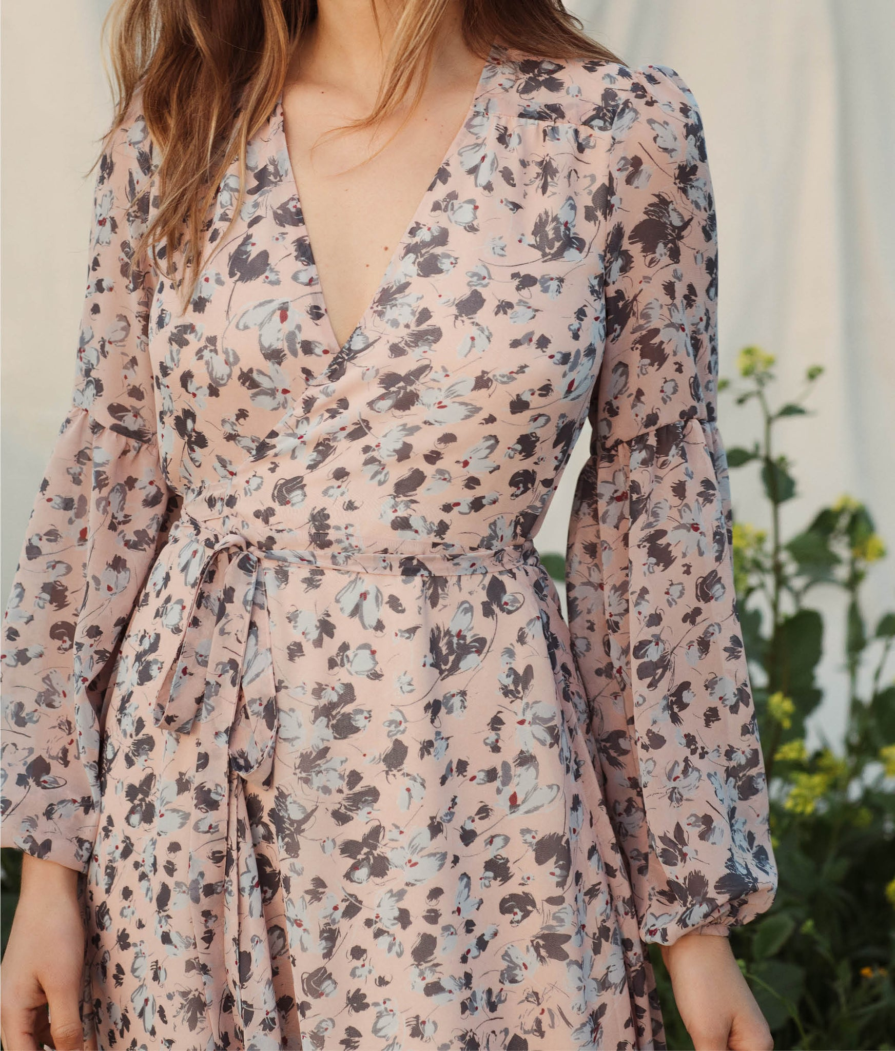 The Bergen Dress | Charcoal Floral (Lined)