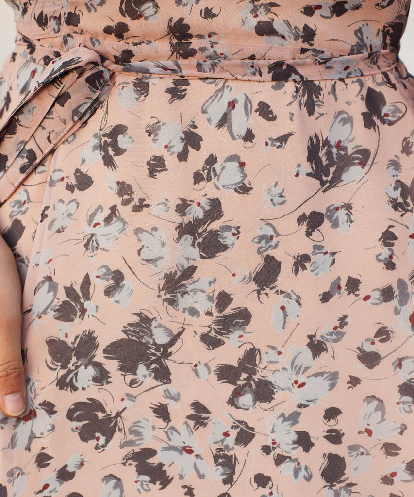 The Bergen Dress | Charcoal Floral (Lined) image 18