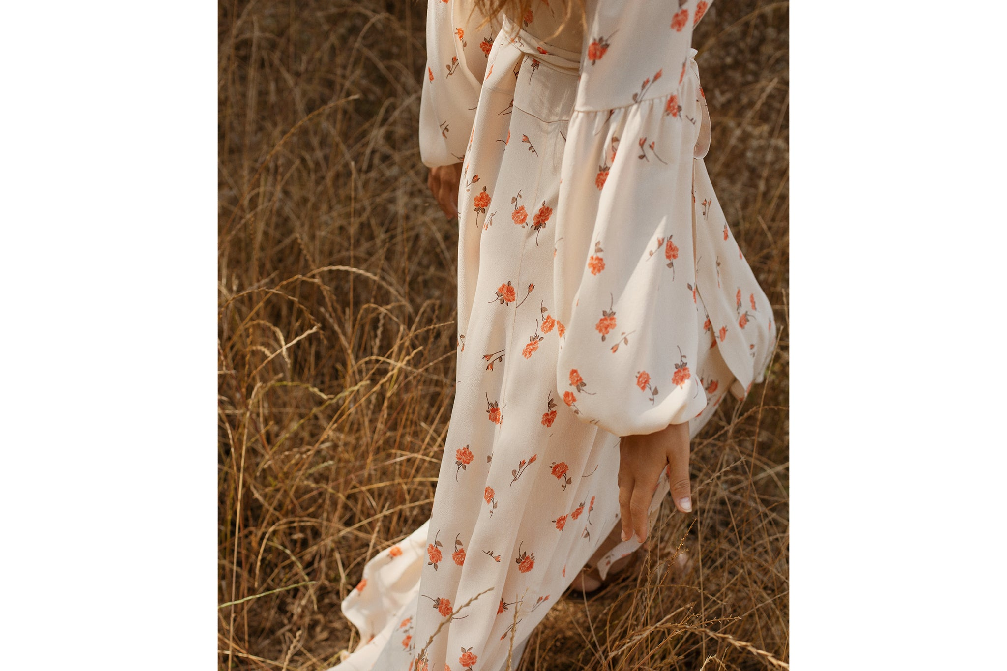The Bergen Dress | Tangerine Bloom