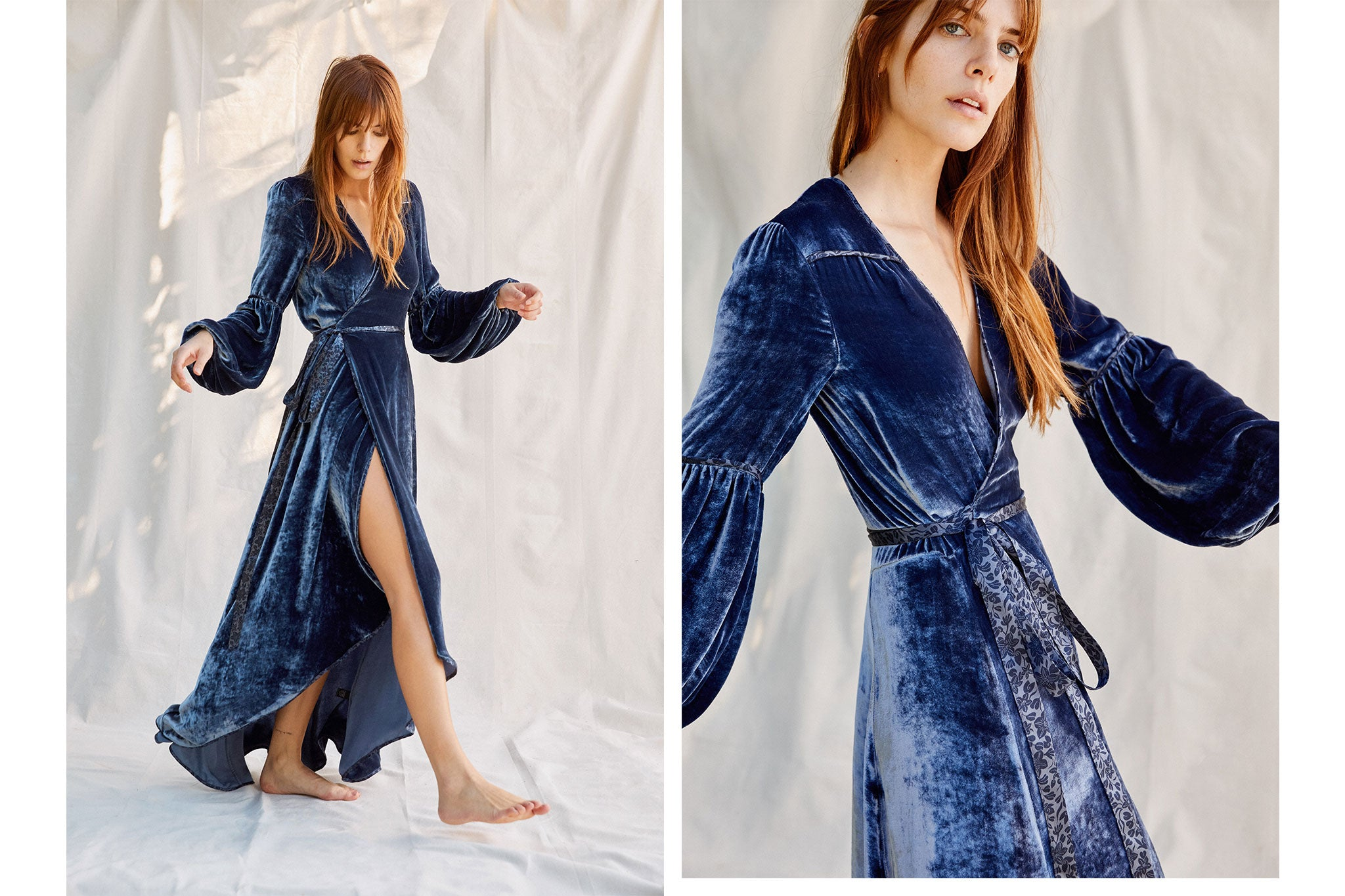 The Bergen Dress | Sapphire Velvet