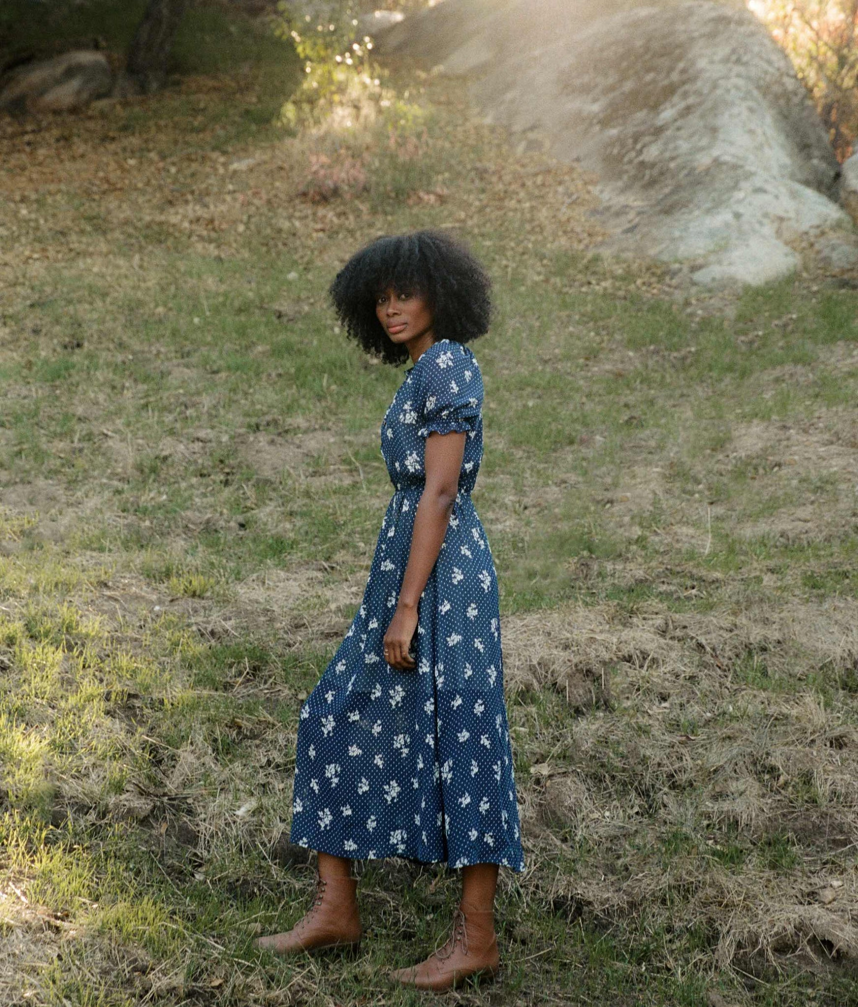 The Beverly Dress | Blue Heron (Lined)