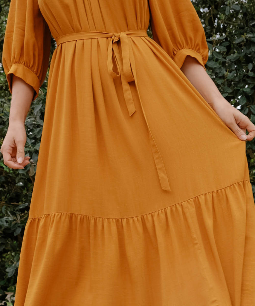 The Bianca Dress | Turmeric image 11