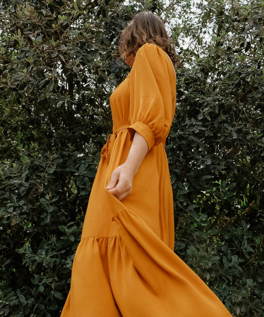 The Bianca Dress | Turmeric image 13