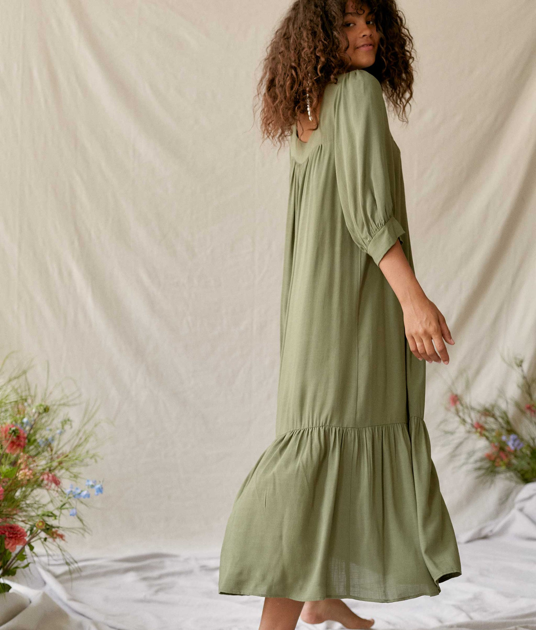 The Bianca Dress | Washed Pine