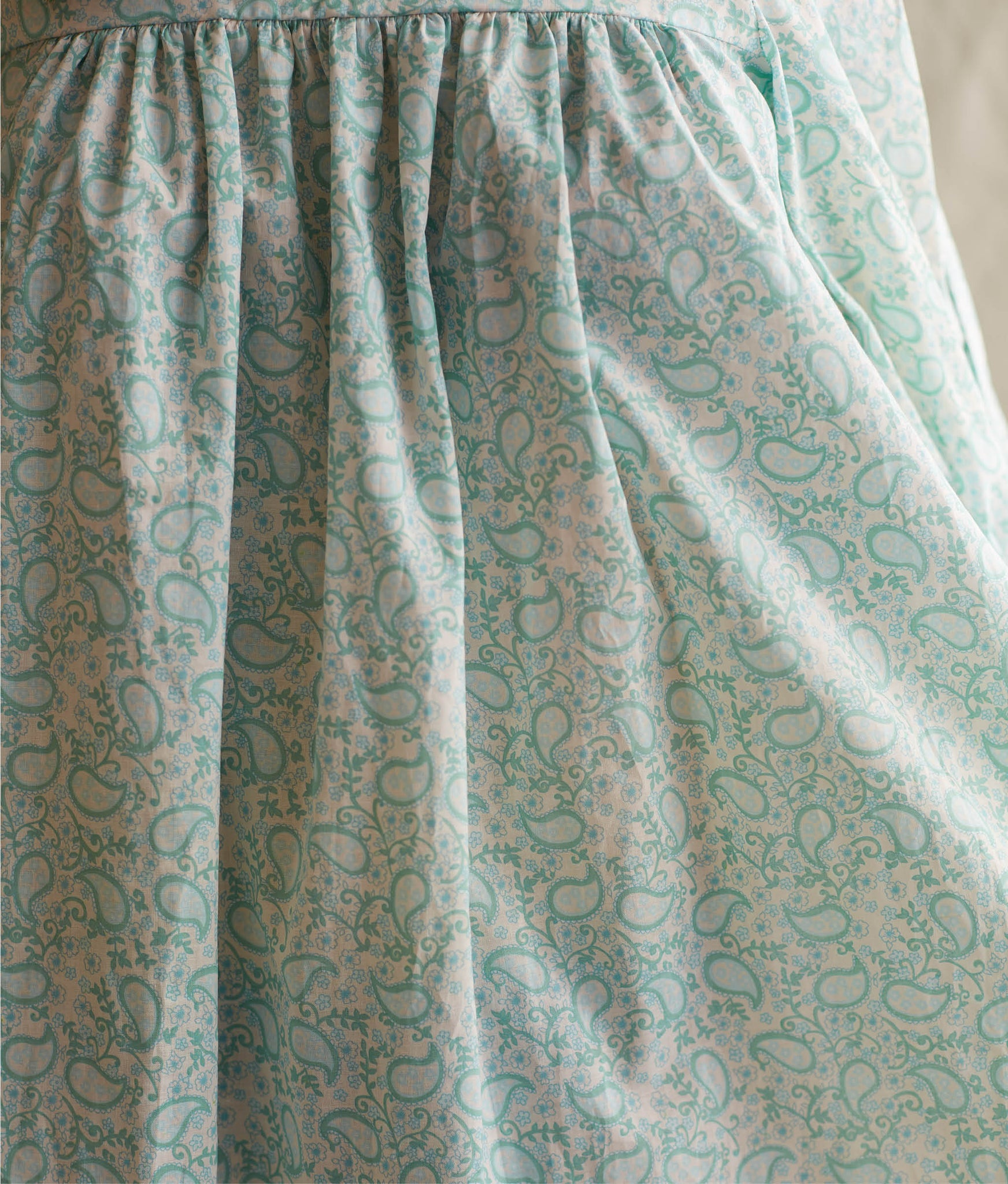 The Bianca Dress | Mint Paisley