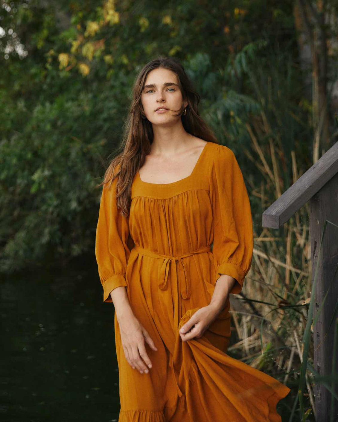 The Bianca Dress | Turmeric (Imperfect)