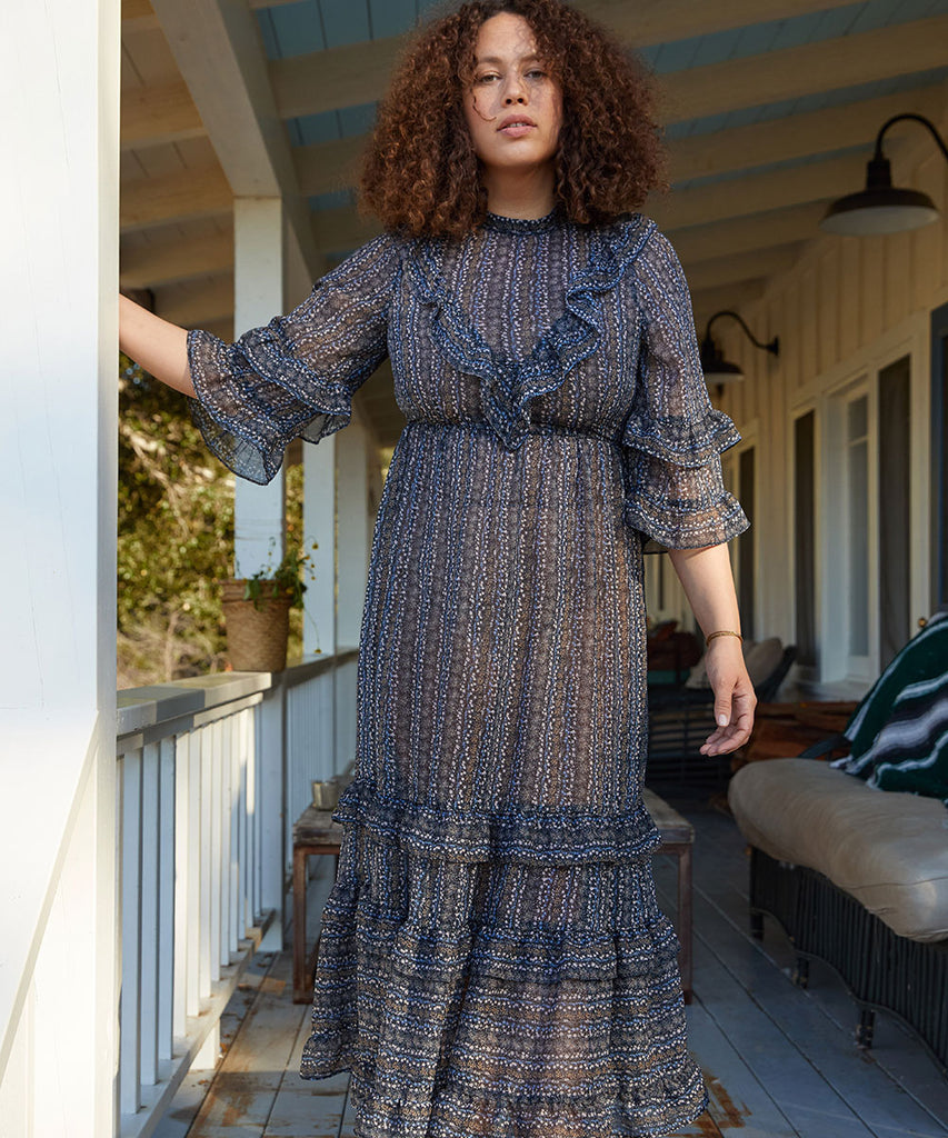 The Bijou Dress | Charcoal Garden