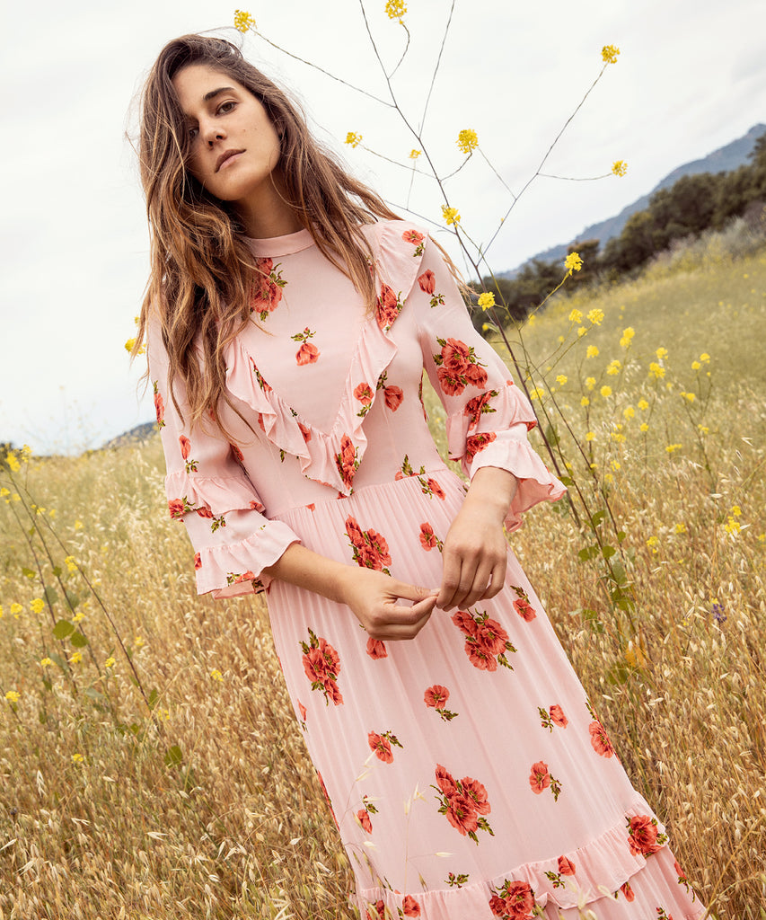 The Bijou Dress | Blush Pansy