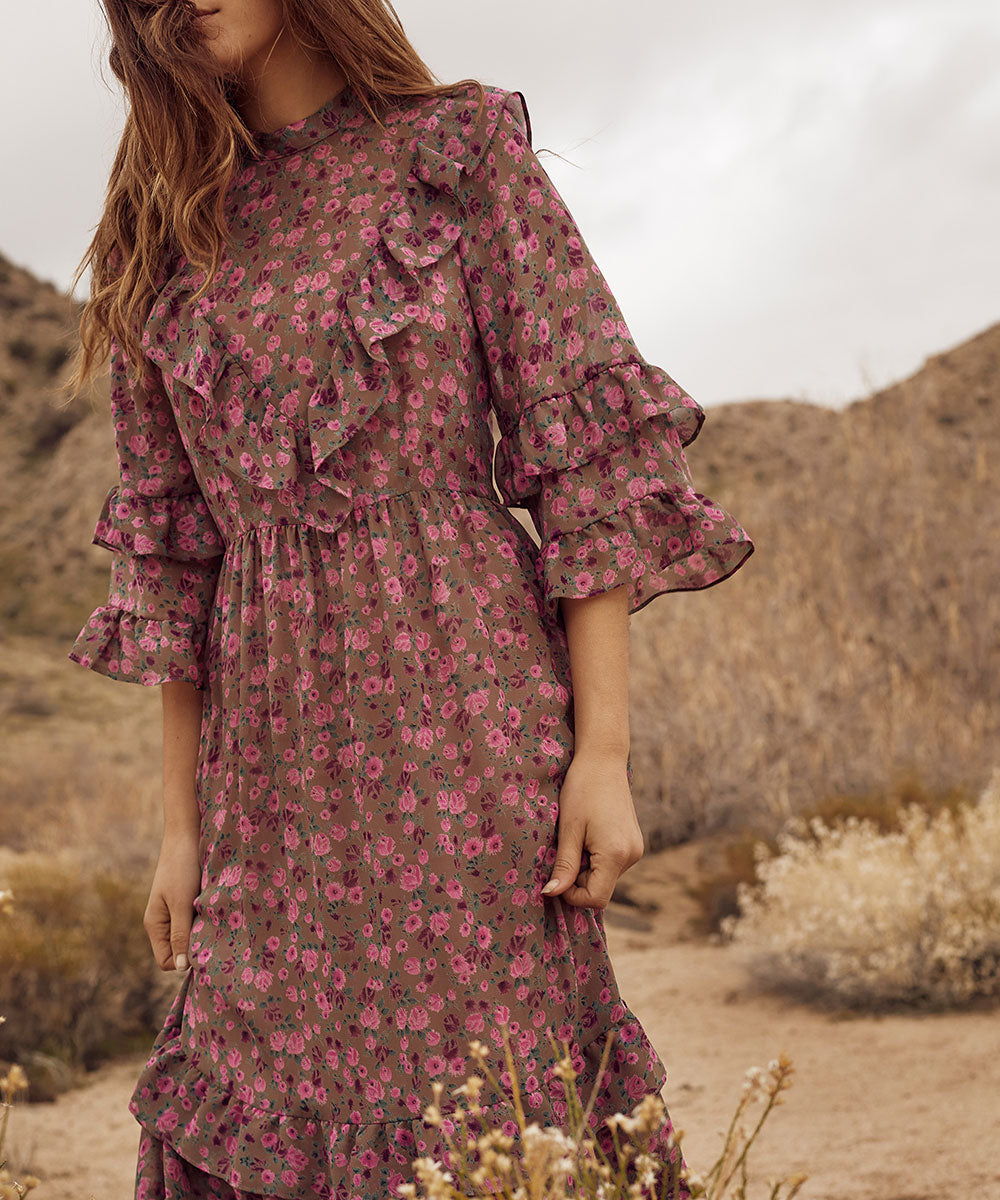 The Bijou Dress | Pebble Floral