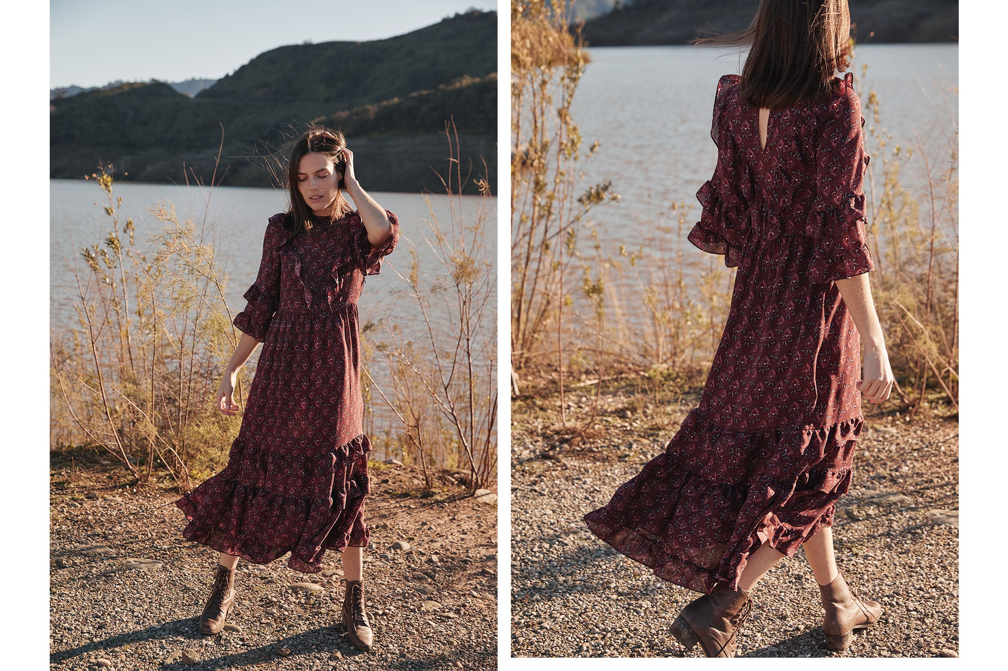 The Bijou Dress | Amaranth Leaf