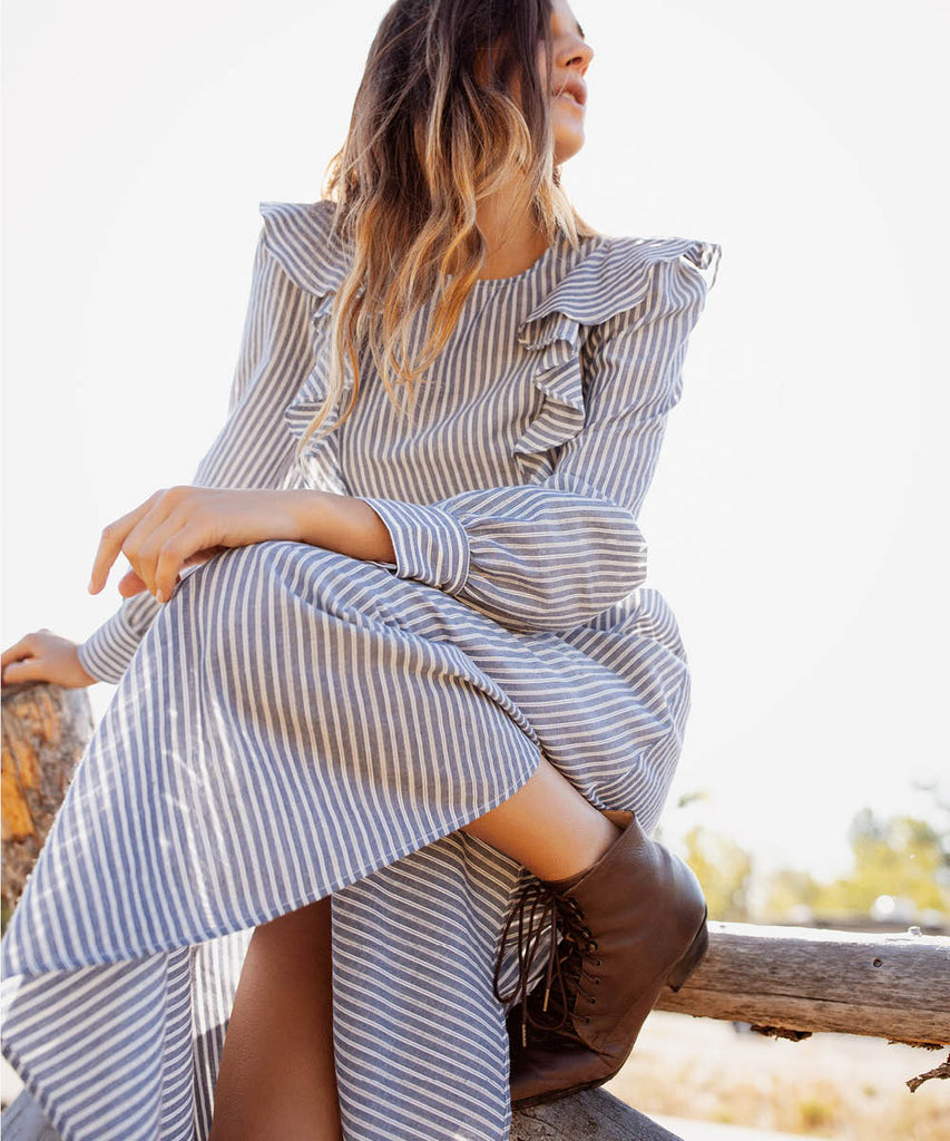 The Birdie Dress | Larkspur Stripe image 5