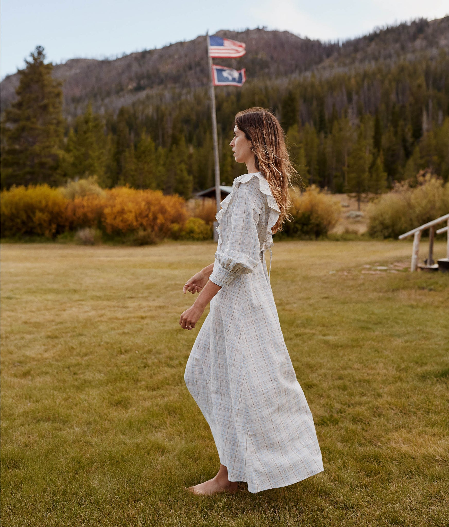 The Birdie Dress | Cloud Plaid