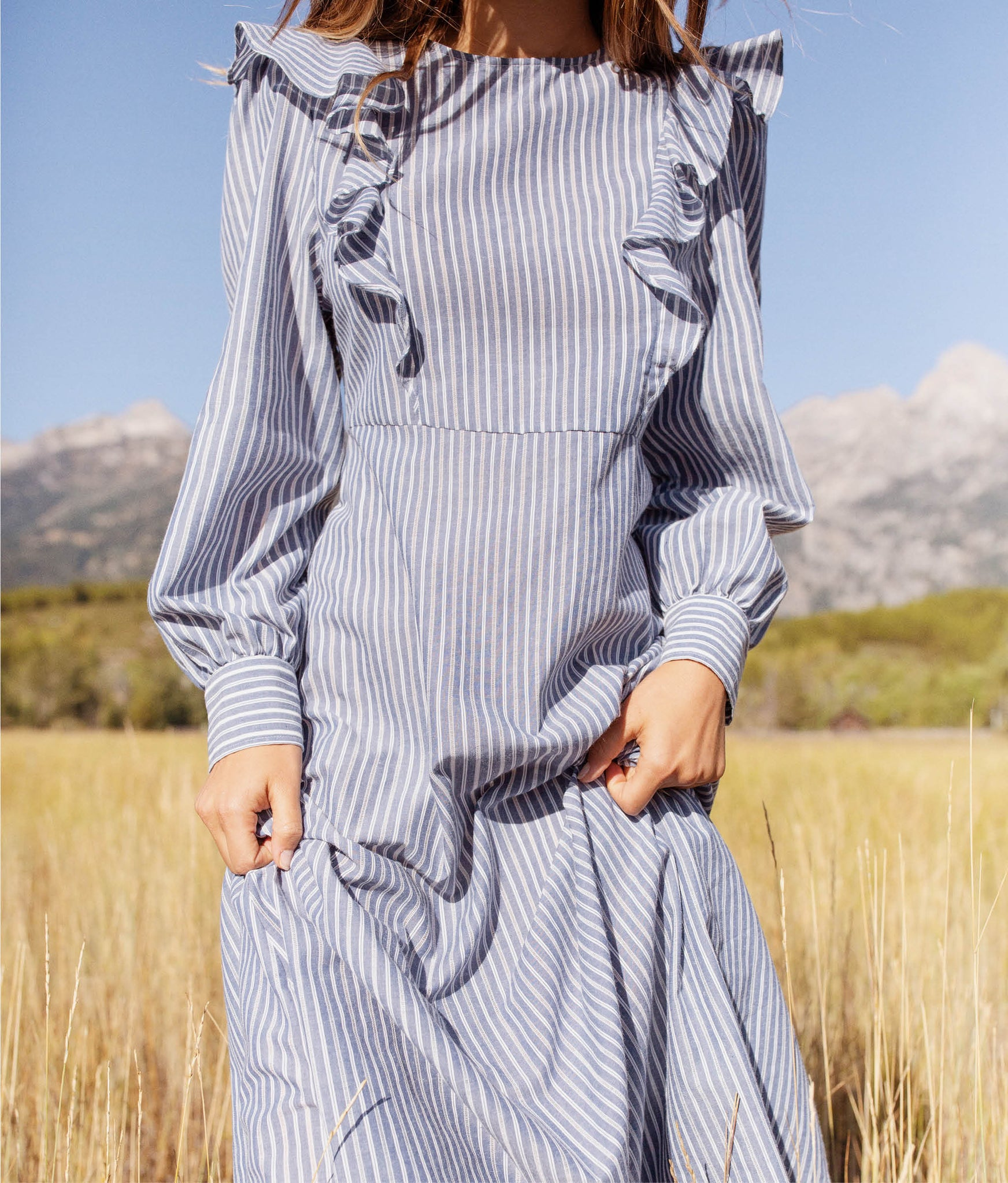 The Birdie Dress | Larkspur Stripe