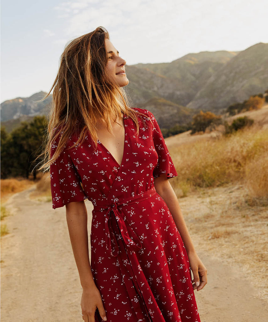 The Bluebell Dress | Crimson Bloom