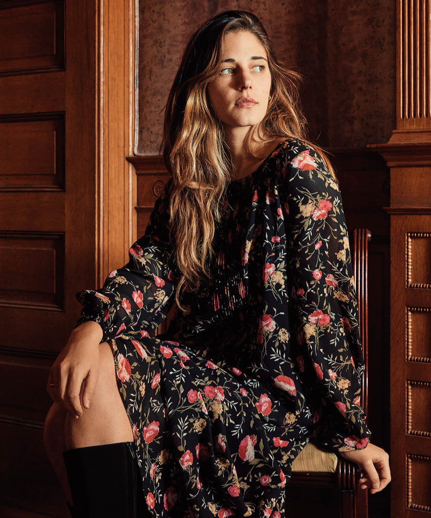 The Camille Dress | Night Chintz image 2