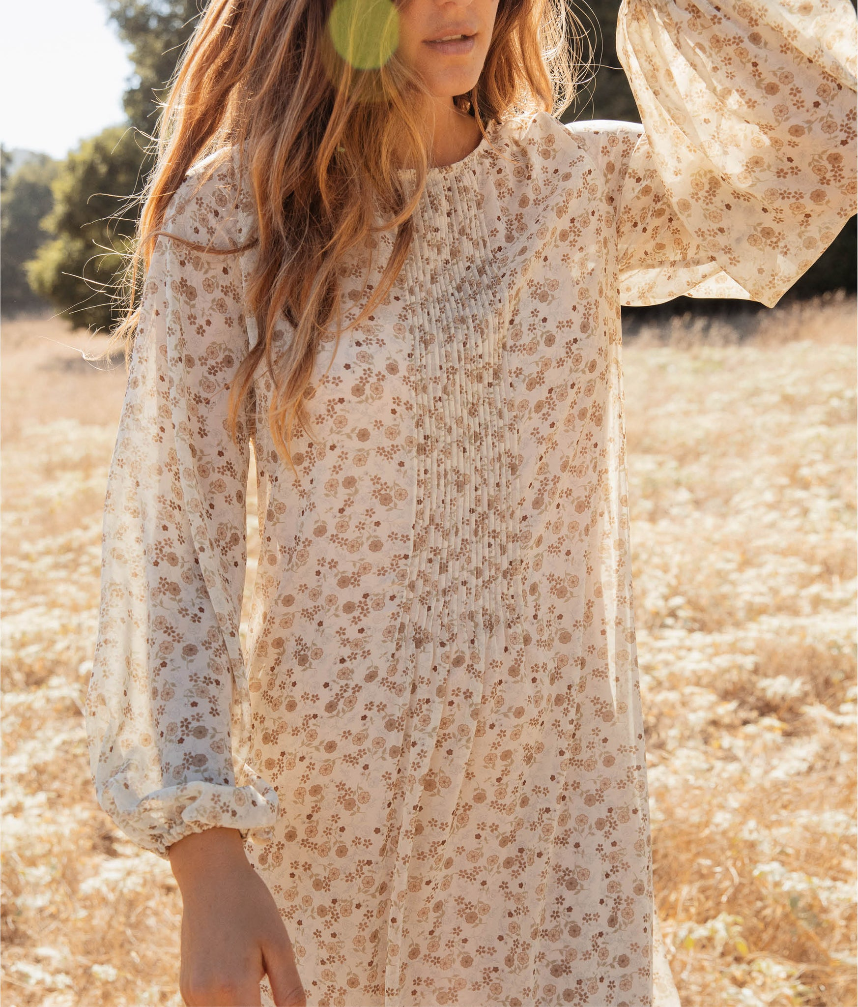 The Camille Dress | Sepia Ditsy