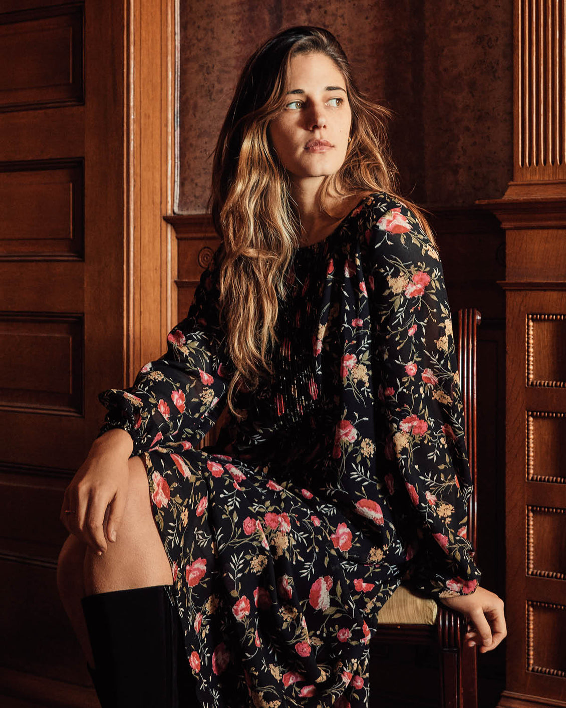 The Camille Dress | Night Chintz