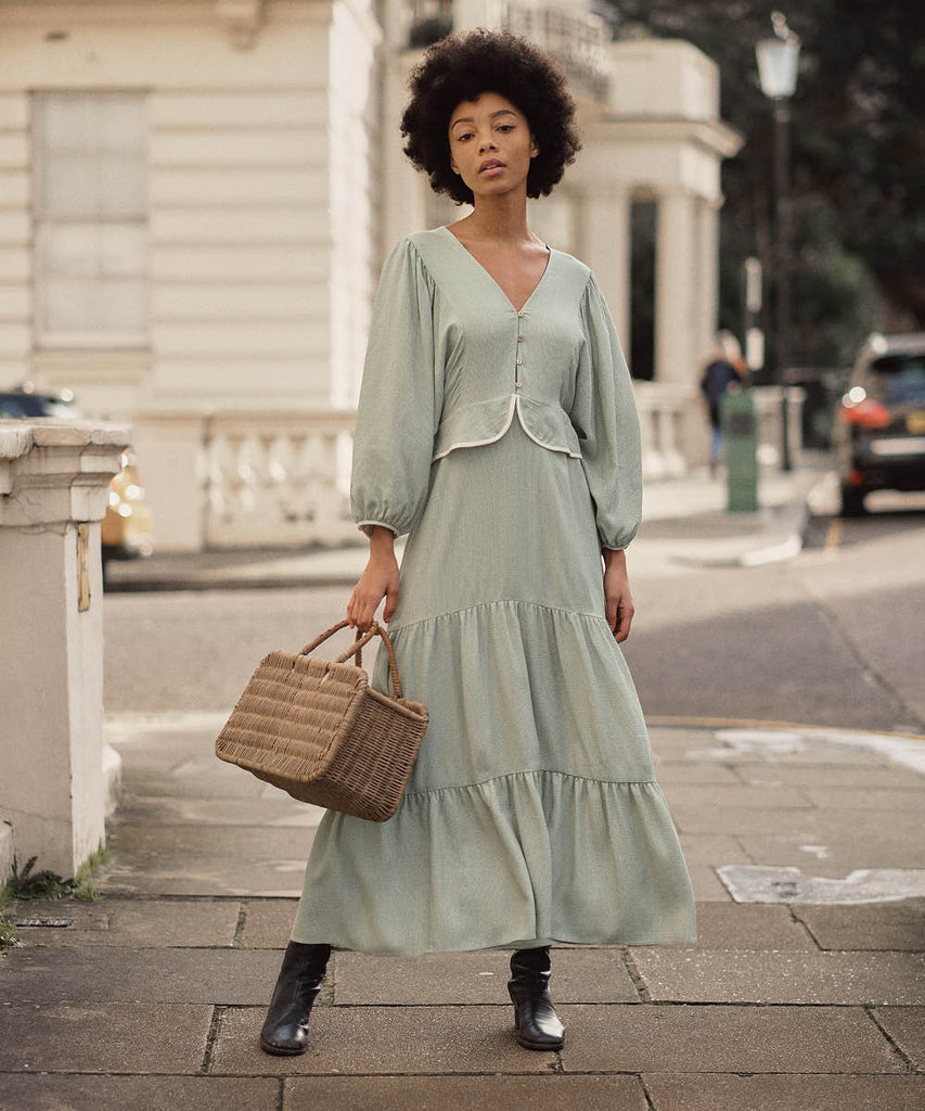 The Cicely Dress | Woven Mint image 8