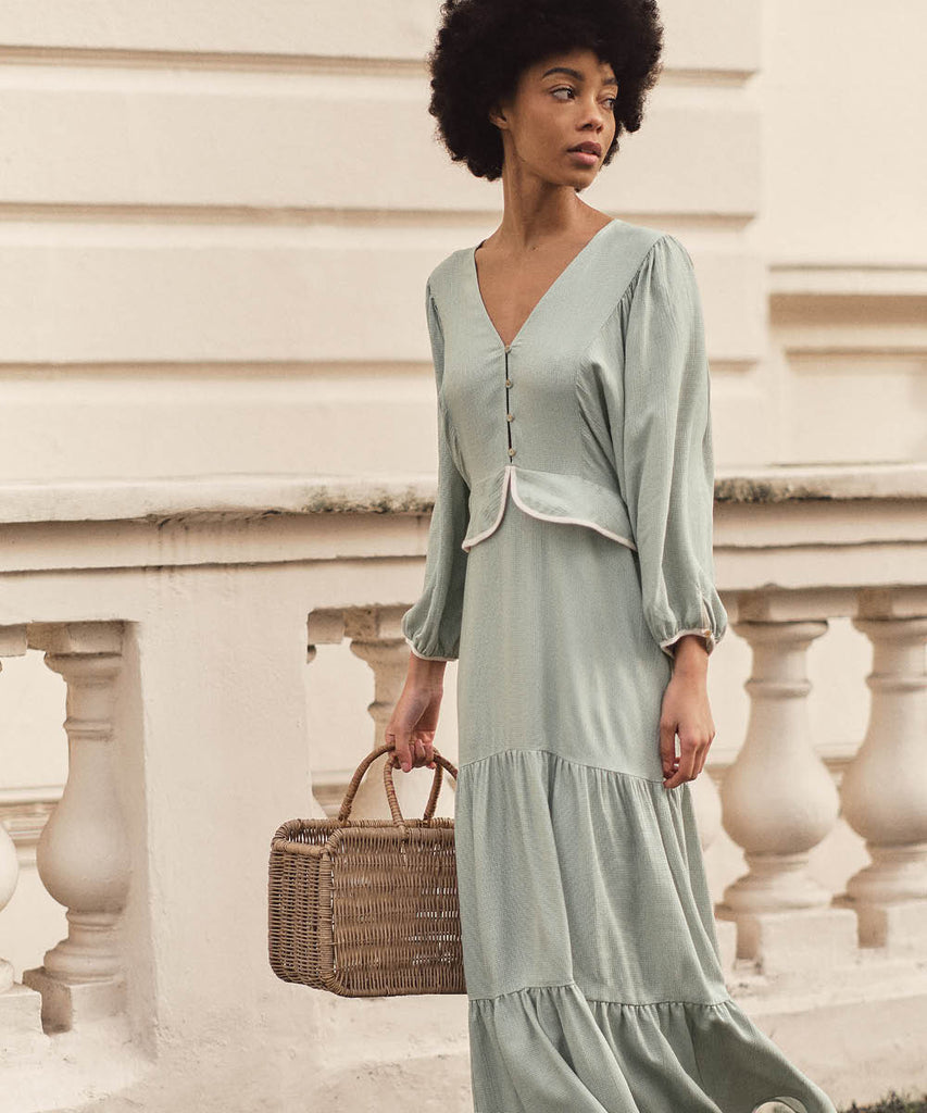 The Cicely Dress | Woven Mint image 2