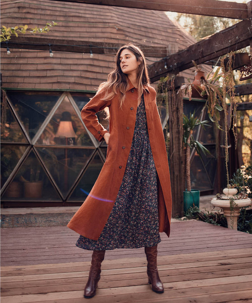 The Clara Coat | Rust Linen image 2
