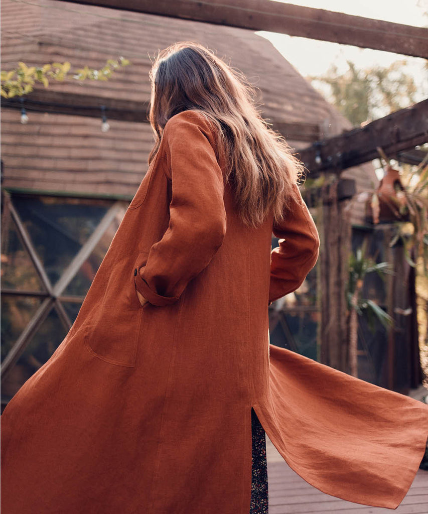 The Clara Coat | Rust Linen image 6