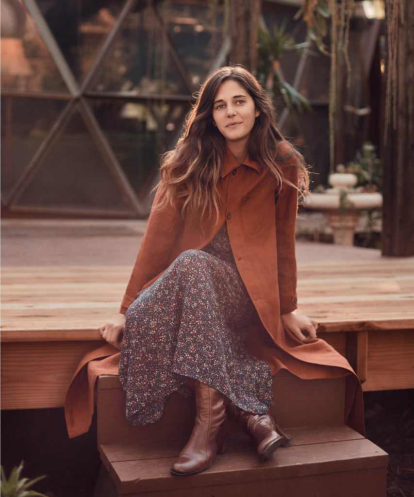 The Clara Coat | Rust Linen