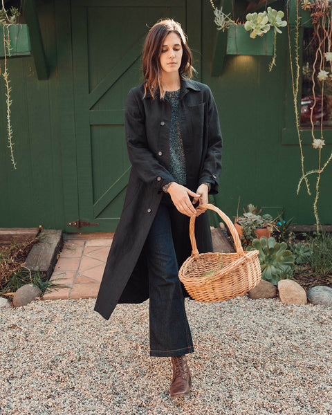 The Clara Coat | Noir Linen