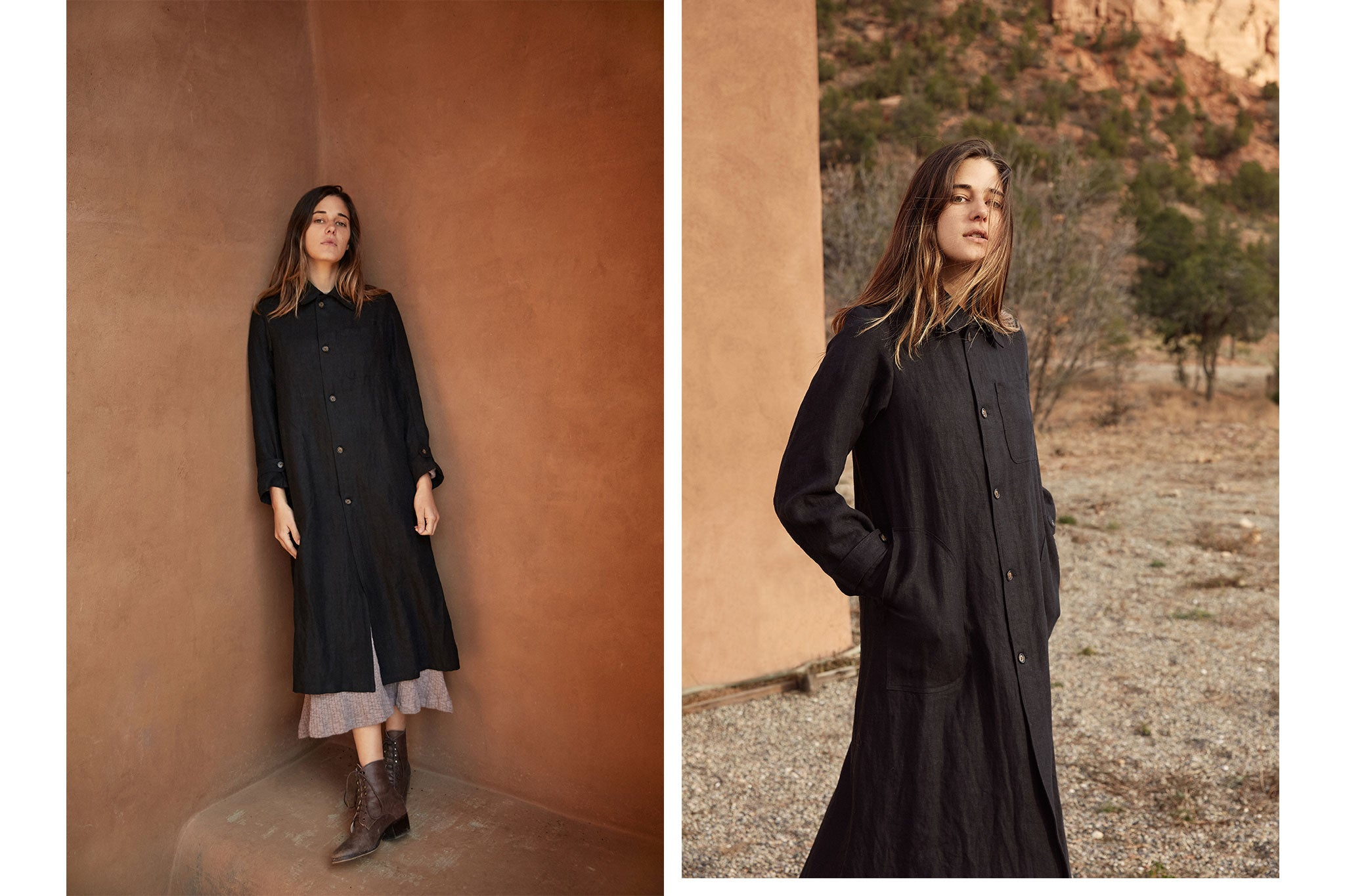 The Clara Coat | Noir