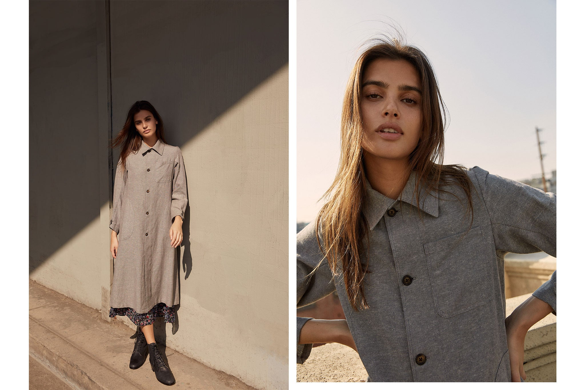 The Clara Coat | Woven Stone