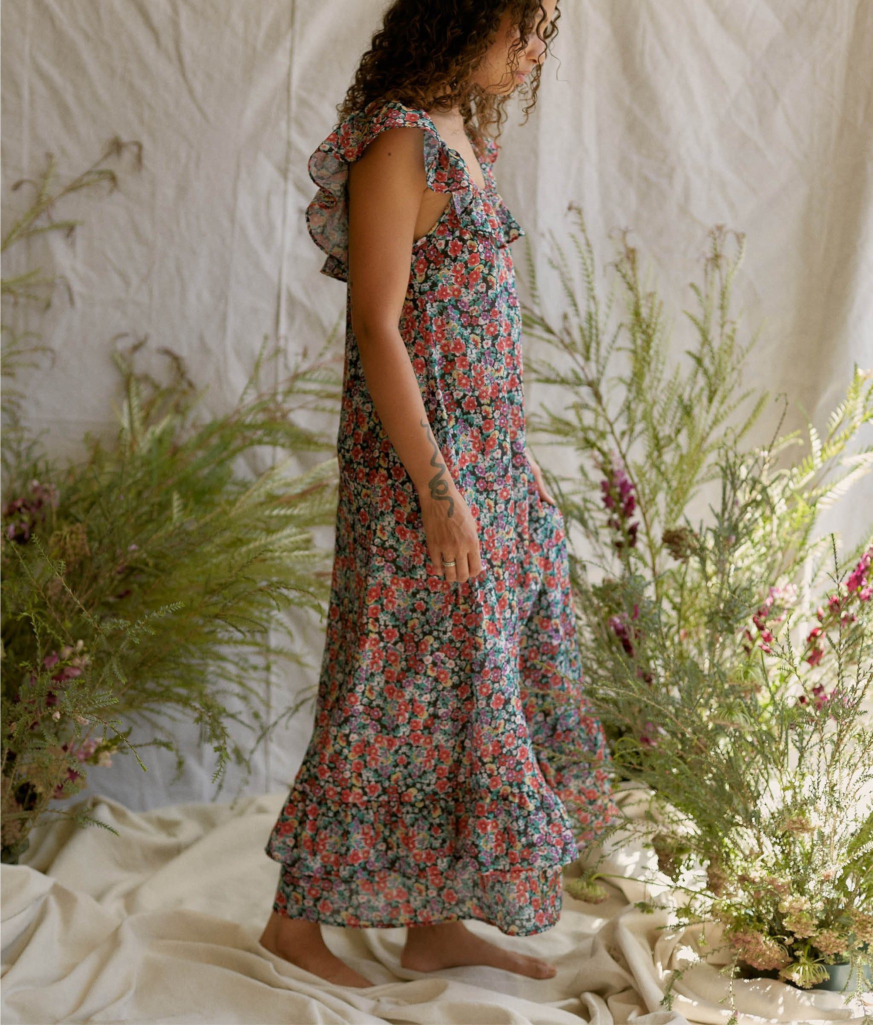 The Colette Dress | Berry Wildflower