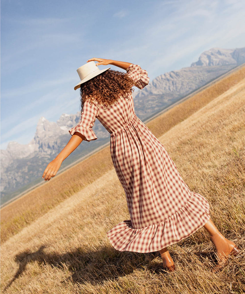 The Constance Dress | Currant Plaid image 3