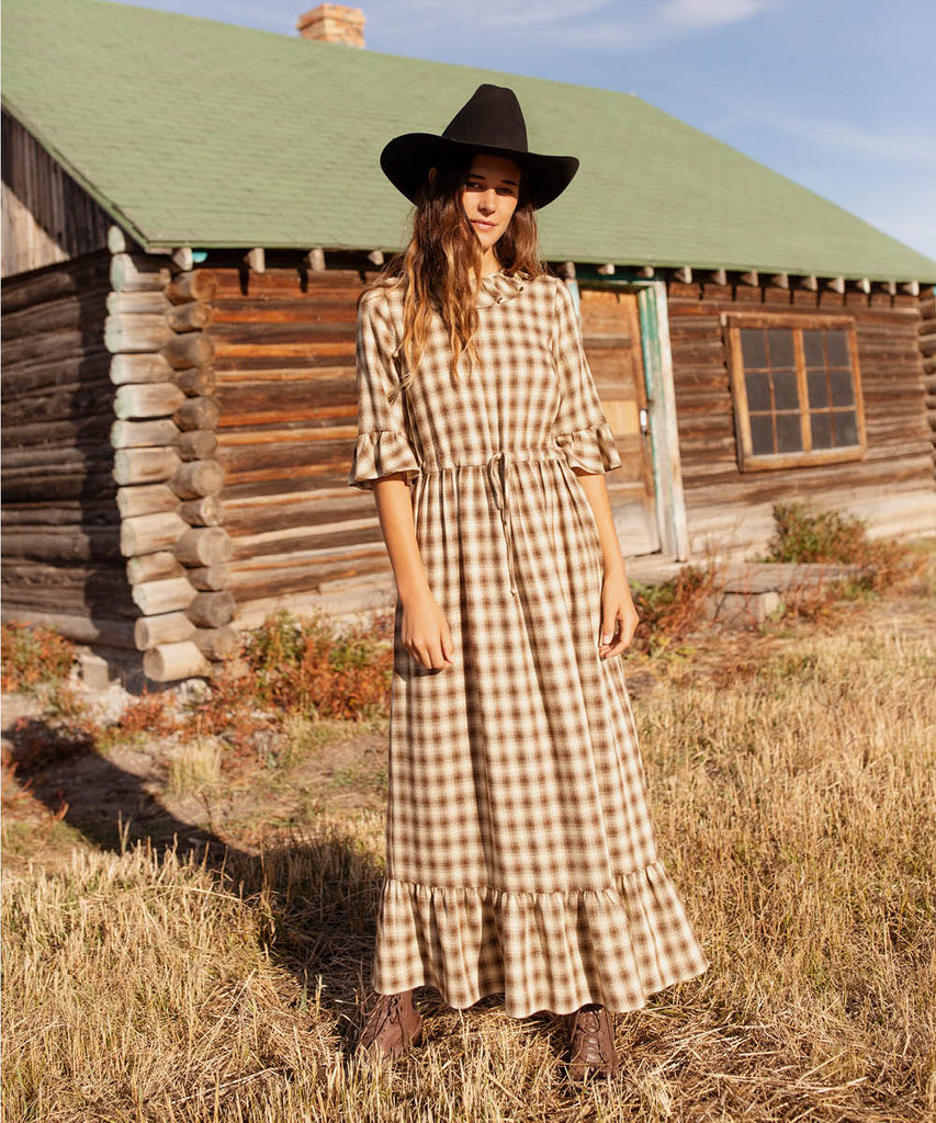 The Constance Dress | Cocoa Plaid image 4
