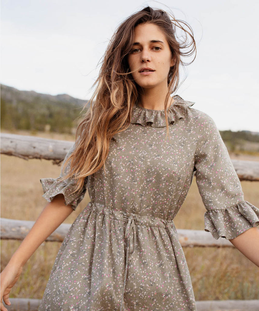 The Constance Dress | Sage Floral image 5