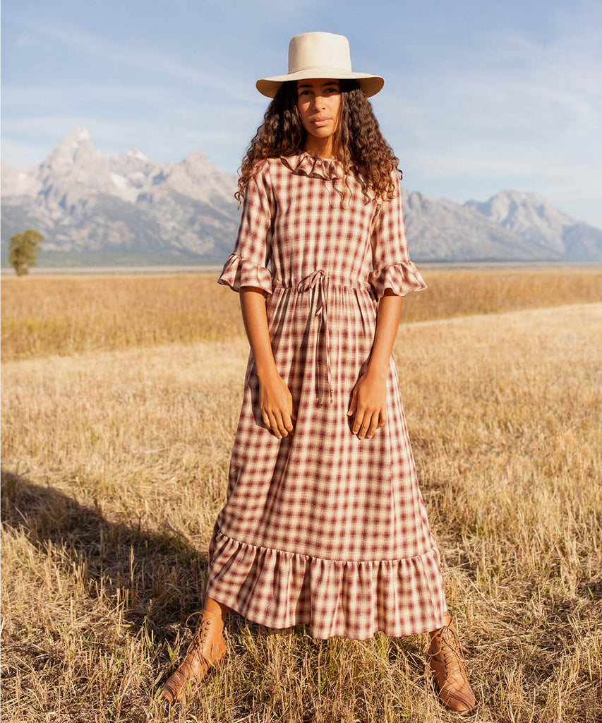 The Constance Dress | Currant Plaid image 7
