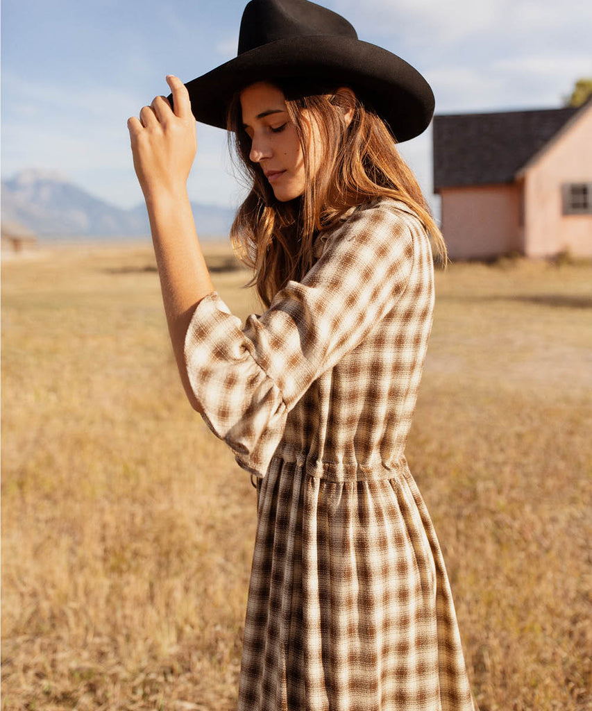 The Constance Dress | Cocoa Plaid