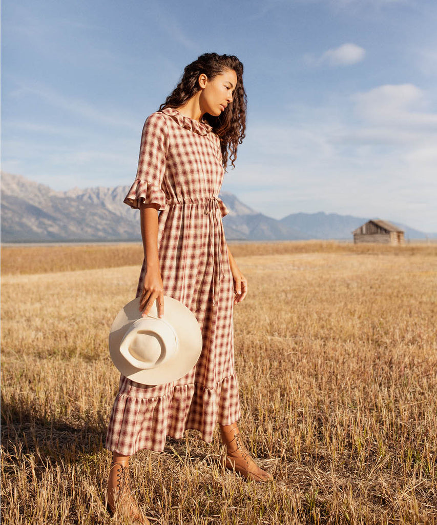 The Constance Dress | Currant Plaid image 9