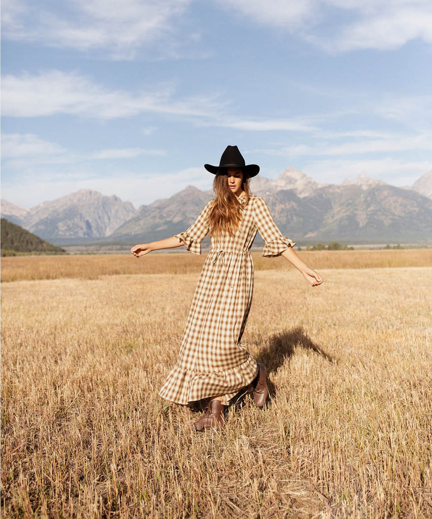 The Constance Dress | Cocoa Plaid image 10