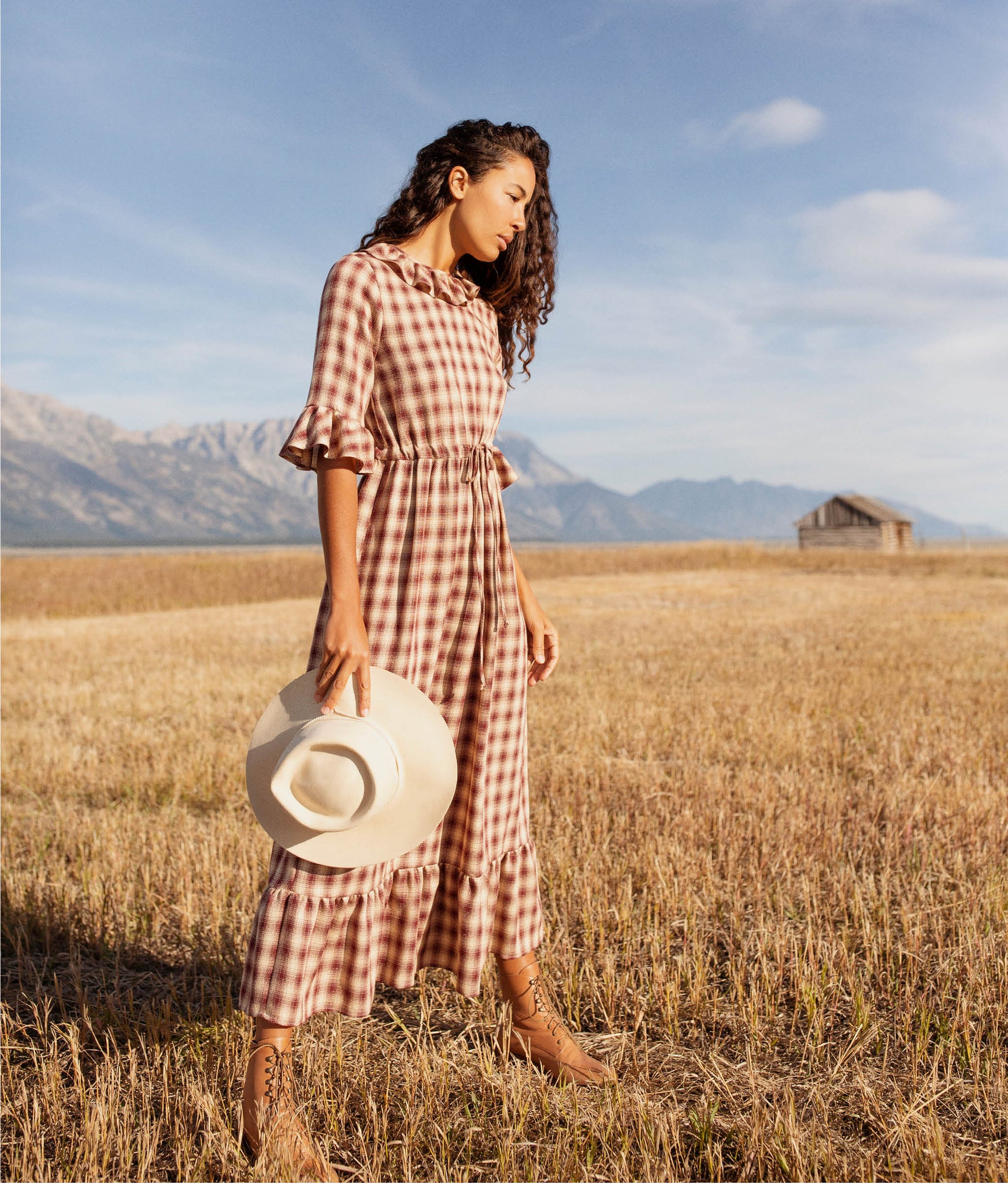 The Constance Dress | Currant Plaid