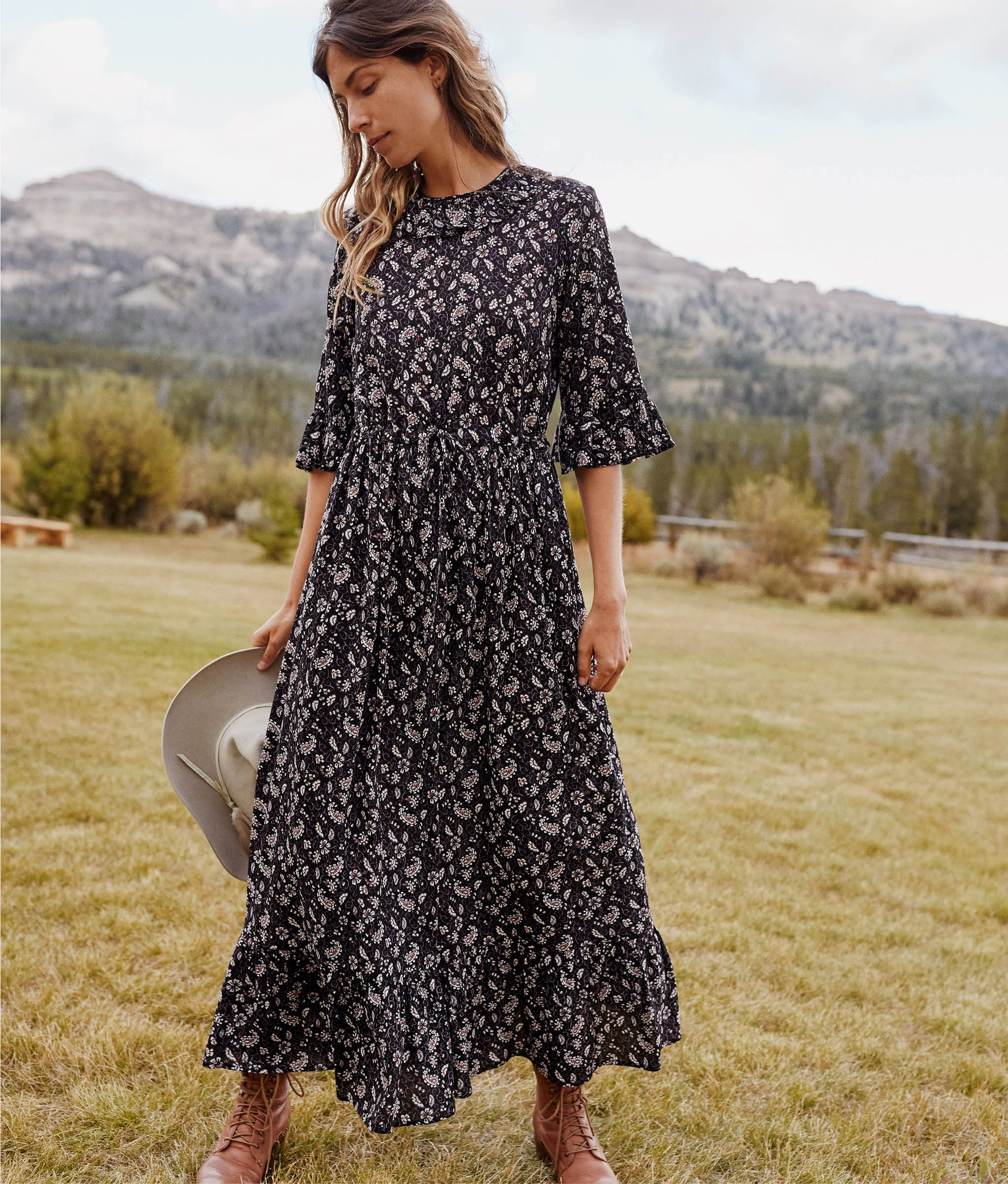 The Constance Dress | Amethyst Paisley