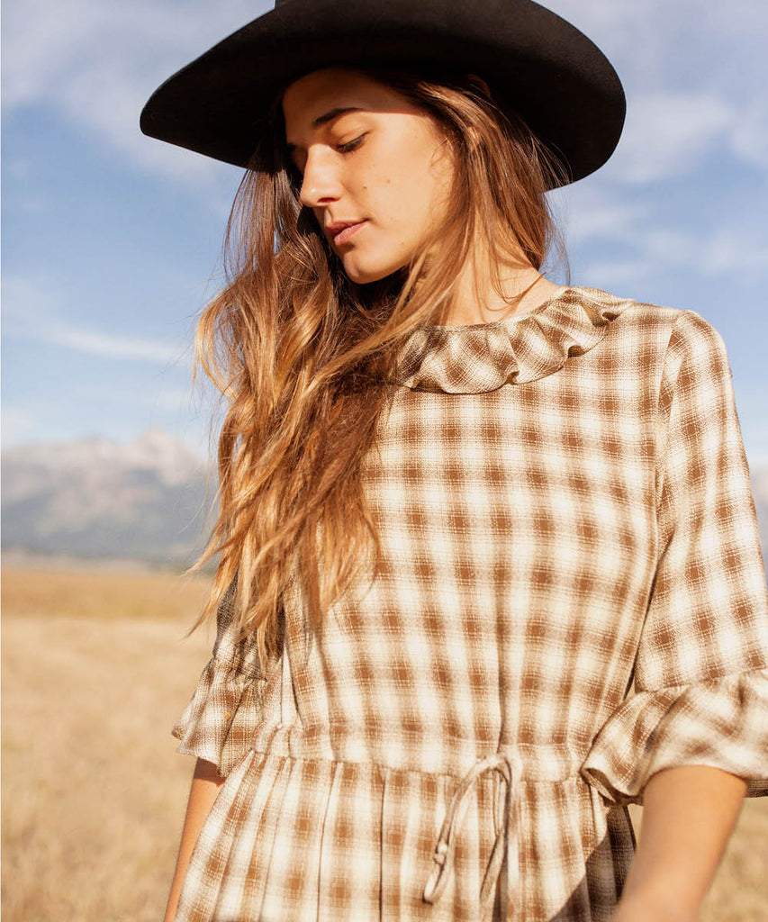 The Constance Dress | Cocoa Plaid image 12