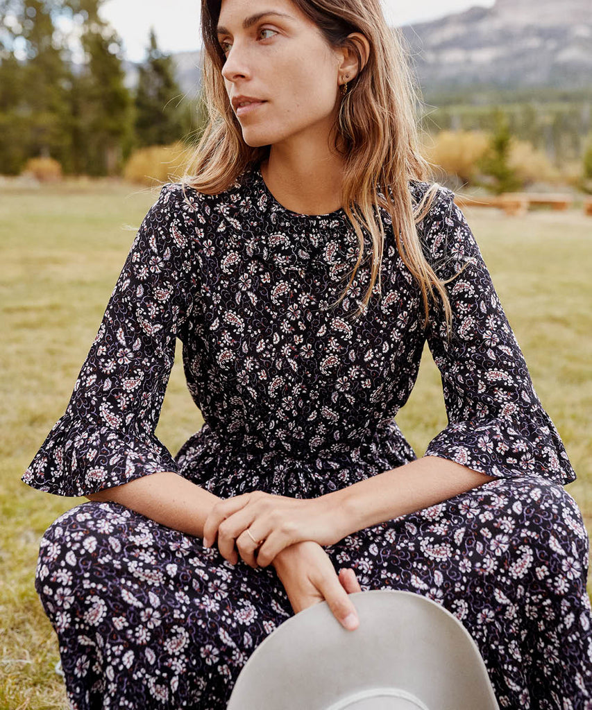 The Constance Dress | Amethyst Paisley image 13