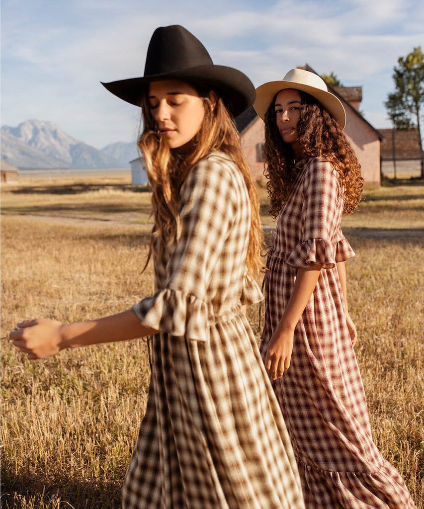 The Constance Dress | Currant Plaid image 17