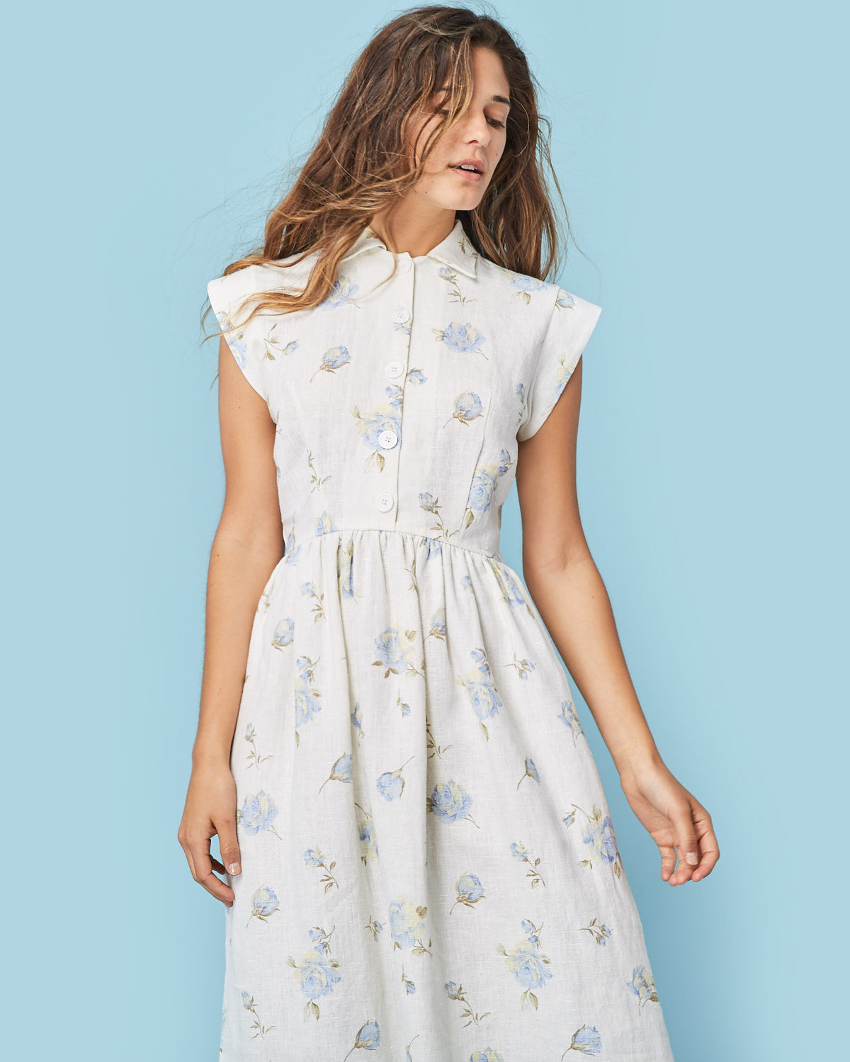The Piper Dress | White Floral