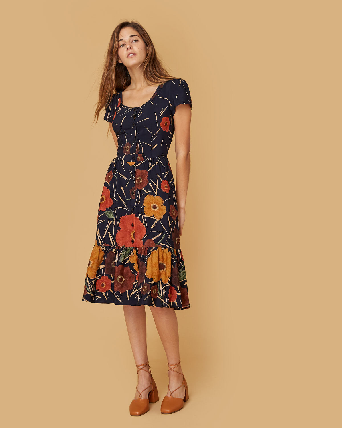 The Virginia Dress | Navy Floral