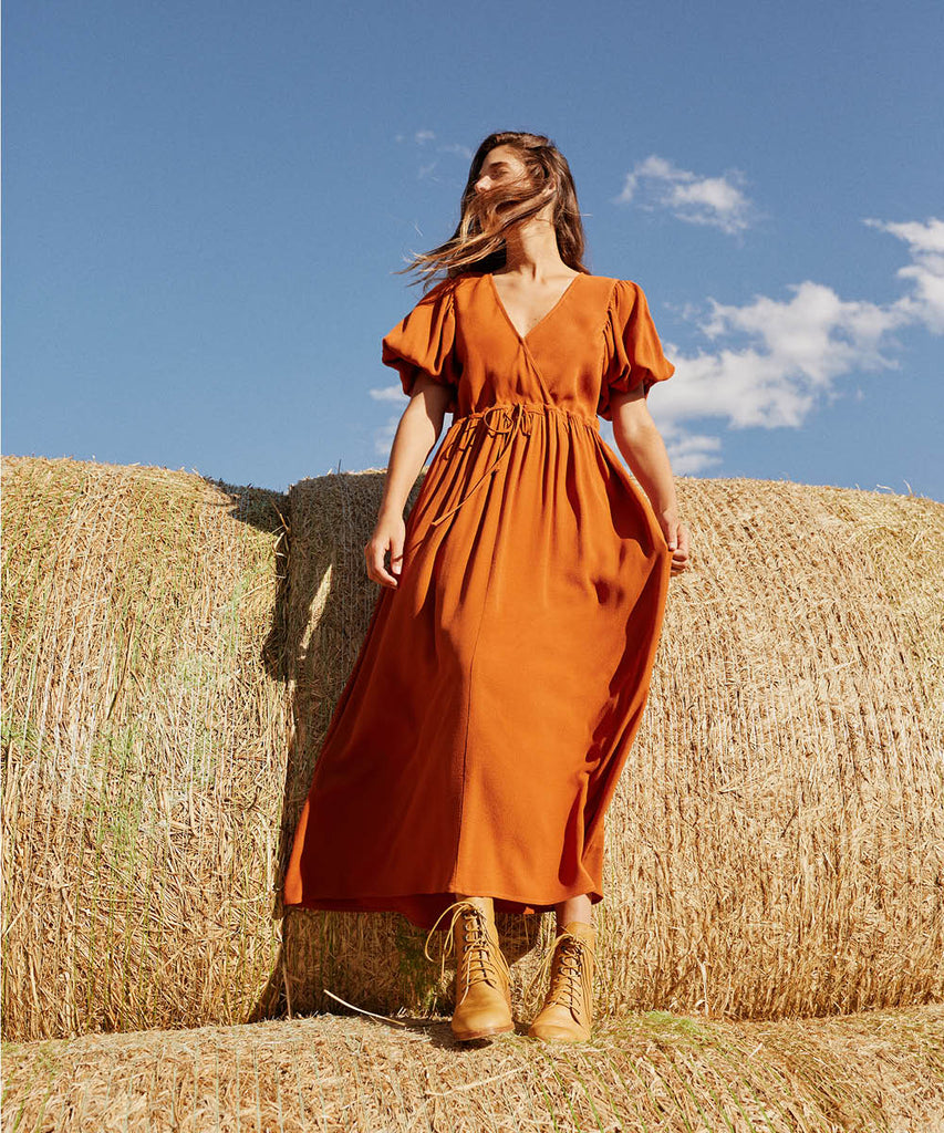 The Dahlia Dress | Rust