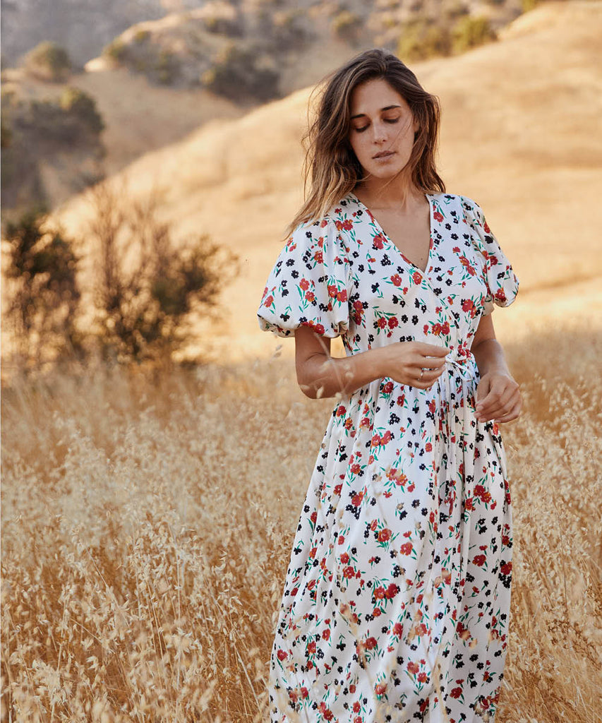 The Dahlia Dress | Painted Meadow Silk image 2