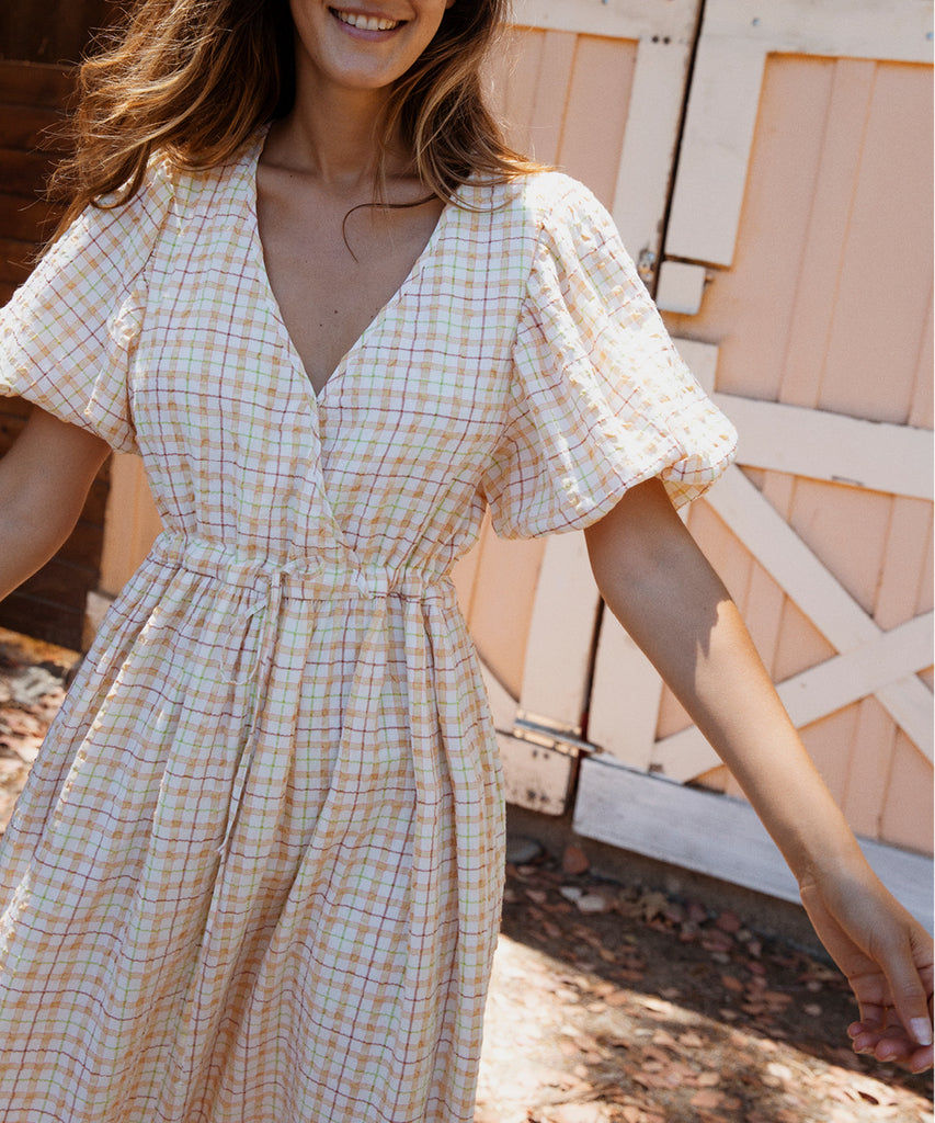 The Dahlia Dress | Summertime Plaid