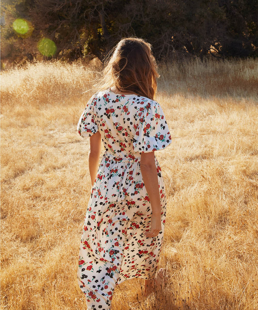 The Dahlia Dress | Painted Meadow Silk image 6