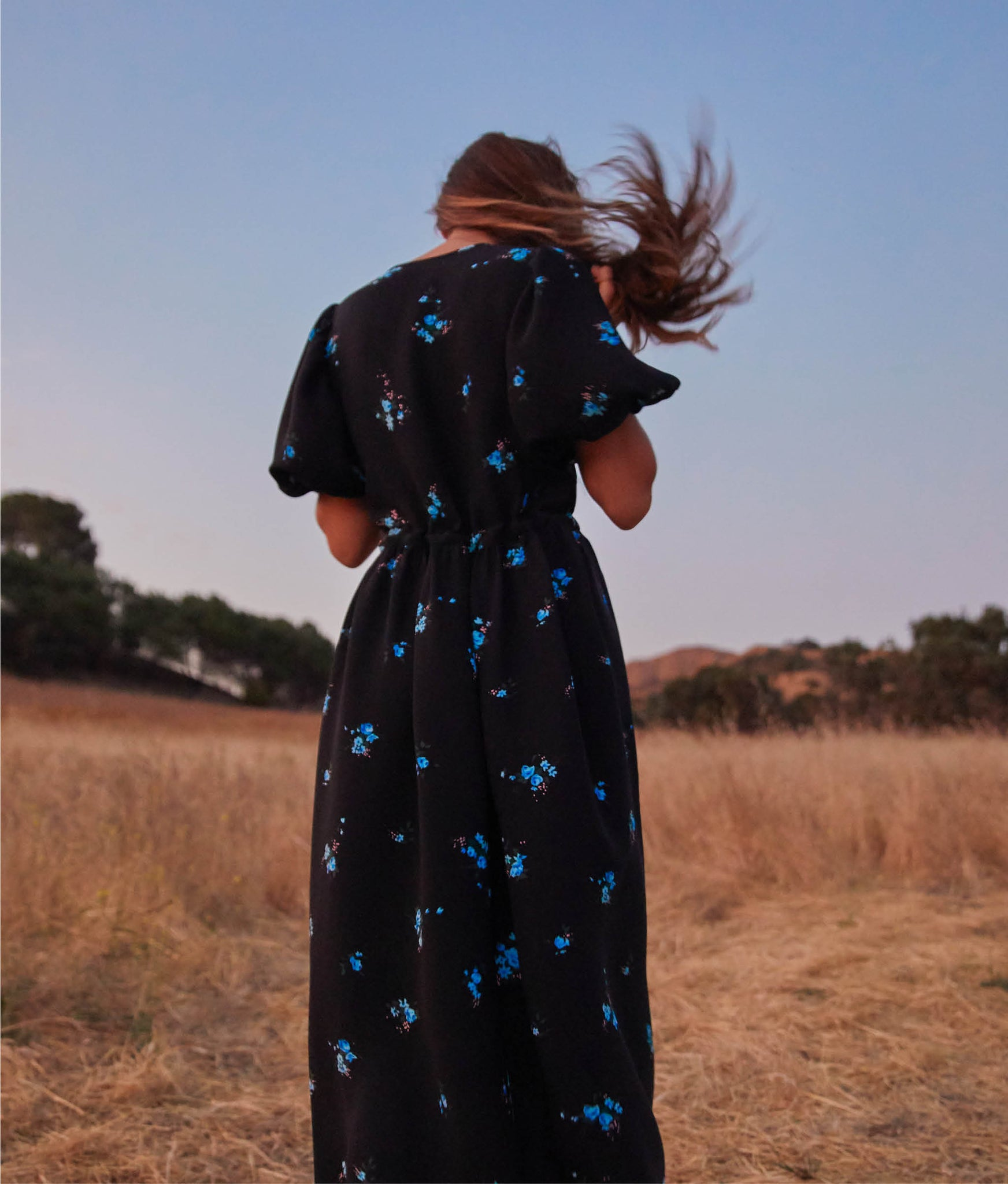 The Dahlia Dress | Petit Bleu (1-of-a-kind!)